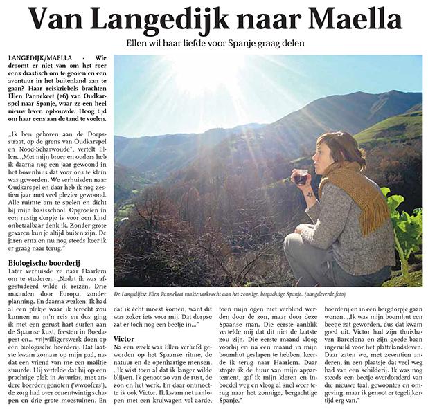 dutch article LANGEDIJKER NIEUWSBLAD